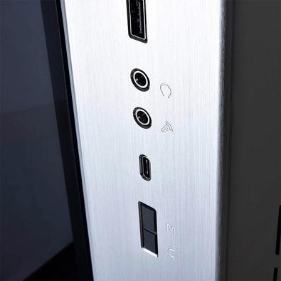 Gabinete Gamer Lian Li PC-O11D XL ROG, Full Tower, RGB, Lateral e Frontal em Vidro, Prata - PC-011 DYNAMIC O11DXL-S