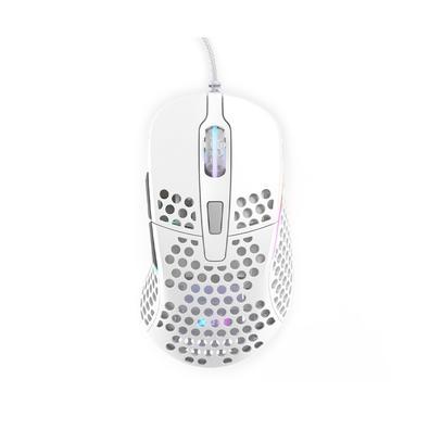 Mouse Gamer Xtrfy M4, RGB, 6 Botões, 16000DPI, Branco - XG-M4-WHITE