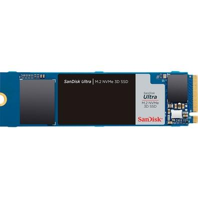 SSD SanDisk Ultra M.2 NVMe 3D, 500GB, M.2, PCIe, NVMe, Leituras: 2400Mb/s e Gravações: 1750Mb/s - SDSSDH3N-500-G25