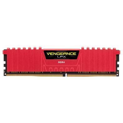 Memória Corsair Vengeance LPX 16GB (2x8GB) 2400Mhz DDR4 C14 Red - CMK16GX4M2A2400C14R