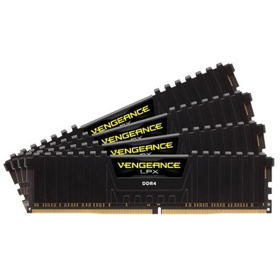 Memória Corsair Vengeance LPX 16GB (4x4GB) 2400Mhz DDR4 C14 Black - CMK16GX4M4A2400C14