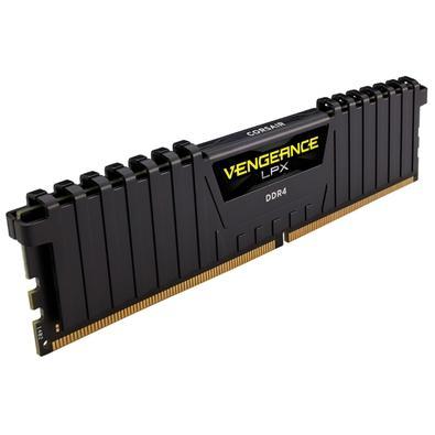 Memória Corsair Vengeance LPX 32GB (4x8GB) 4133Mhz DDR4 C19 Black - CMK32GX4M4K4133C19