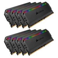 Memória Corsair Dominator RGB 128GB (8x16GB) 3200MHz  DDR4  C16 Black - CMT128GX4M8C3200C16
