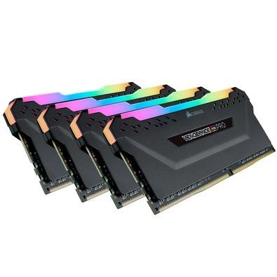 Memória Corsair Vengeance RGB Pro 128GB (4x32GB) 2666MHz DDR4 C16 Black - CMW128GX4M4A2666C16