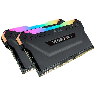 Memória Corsair Vengeance RGB Pro 16GB (2x8GB) 3600MHz DDR4 C18 Black - CMW16GX4M2C3600C18