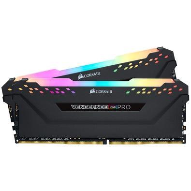 Memória Corsair Vengeance RGB Pro 32GB (2x16GB) 3466MHz DDR4 C16 Black - CMW32GX4M2C3466C16