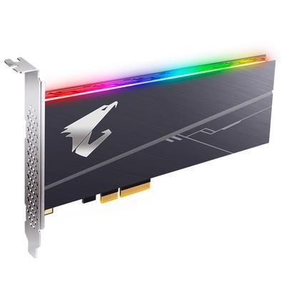 SSD Aorus RGB AIC, 1TB, PCIe, NVMe, Leituras: 3480Mb/s e Gravações: 3080Mb/s - GP-ASACNE2100TTTDR