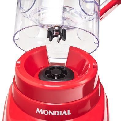 Liquidificador Mondial Turbo Power, 3 Velocidades, 500W, 110V, Vermelho - L-99-FR