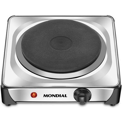 Fogão Elétrico Mondial Fast Cook, 1 Chapa de Aquecimento, 6 Temperaturas, 1000W, 110V - FE-04