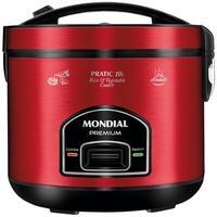 Panela Elétrica Mondial Pratic 10i, 110V, Vermelho/Inox - PE-46-10X