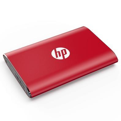 SSD Externo HP P500, 120GB, USB, Leituras: 380Mb/s e Gravações: 110Mb/s, Vermelho - 7PD46AA#ABC