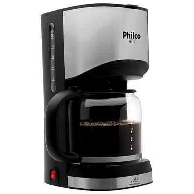 Cafeteira Elétrica Philco PH17, 15 Xícaras, 550W, 110V, Preto/Prata - 53901034
