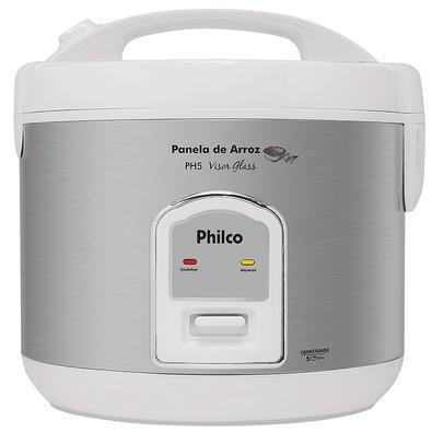 Panela de Arroz Elétrica Philco PH5, 5 Xícaras, 110V, Branca - 56401017