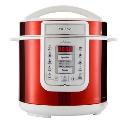 Panela de Pressão Elétrica Philco Retrô PPP01VB, 6 Litros, 220V, Vermelho/Branco - 56402065