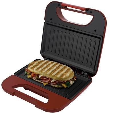 Grill e Sanduicheira Britânia Toast BGR01V, 220V, Vermelho - 66702132