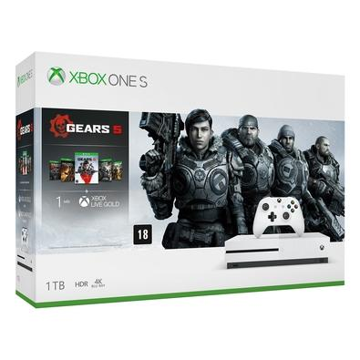 Console Microsoft Xbox One S 1TB Branco + Gears Of War 5 - 234-01025