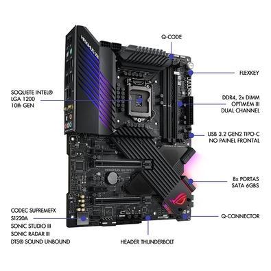 Placa-Mãe Asus ROG Maximus XII Apex, Intel LGA 1200, ATX, DDR4