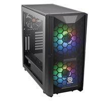 Gabinete Gamer Thermaltake Commander C35 TG, Mid Tower, ARGB, com FAN, Lateral em Vidro - CA-1N6-00M1WN-00