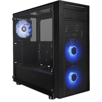 Gabinete Gamer Thermaltake Versa J22, Mid Tower, RGB, com FAN, Lateral em Vidro - CA-1L5-00M1WN-01