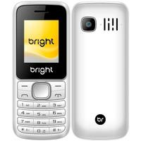 Celular Bright, Tela 1.77´, Câmera, Lanterna, Bluetooth, Rádio FM, Dual Chip, Branco - 0406