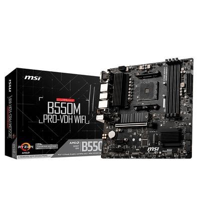 Placa-Mãe MSI B550M Pro-VDH WiFi, AMD AM4, mATX