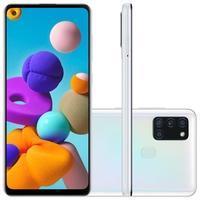 Smartphone Samsung Galaxy A21s, 64GB, 48MP, Tela 6.5´, Branco - SM-A217MZWKZTO
