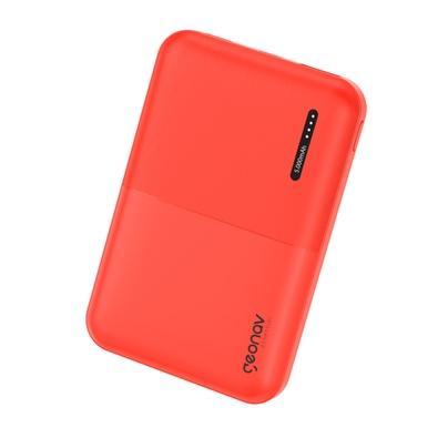 Carregador Portátil Geonav Essential, 5000mAh, 2 USB, Vermelho - ES5KRD