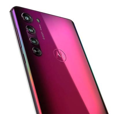 Smartphone Motorola Edge, 128GB, 64MP, Tela 6.7´, Midnight Red + Capa Protetora - PAJA0004BR
