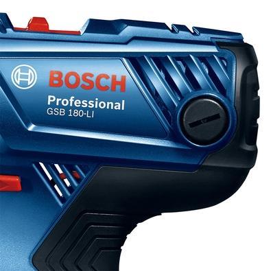 Parafusadeira e Furadeira de Impacto Bosch GSB 180-LI, de 1/2´, 18V, com 1 Bateria, Carregador Bivolt - 06019F83E4-000