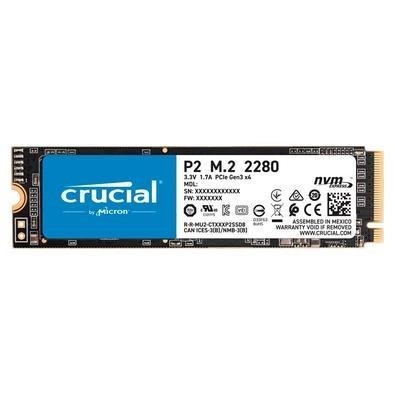 SSD Crucial P2 1TB, M.2 NVMe, Leituras: 2400Mb/s  e Gravações: 1800Mb/s - PCIe M.2 SSD - CT1000P2SSD8