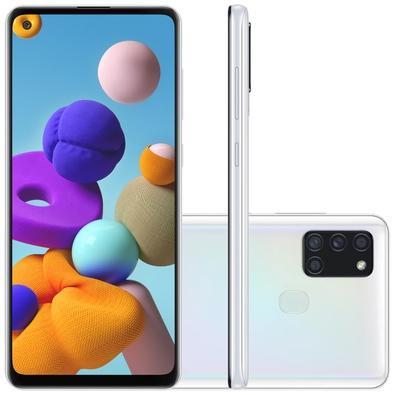 Smartphone Samsung Galaxy A21s, 64GB, 48MP, Tela 6.5´, Branco - SM-A217MZWRZTO