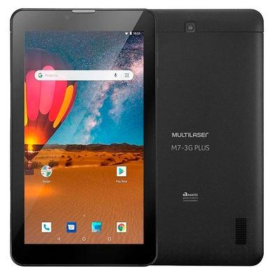Tablet Multilaser M7S Plus, Bluetooth, Android 8.1, 16GB + 16GB com Cartão Micro SD, 2MP, Tela de 7´, Preto - NB312