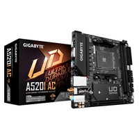 Placa-Mãe Gigabyte A520I AC, AMD A520, Mini-ITX, DDR4 (rev. 1.x)