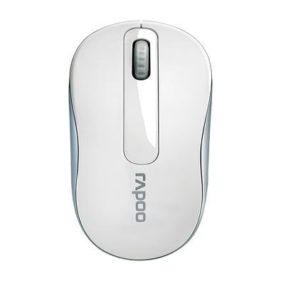 Mouse sem fio Rapoo M10, 2.4 Ghz, 3 Botões, 1000 DPI, Branco - RA008