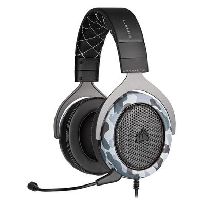 Headset Gamer Corsair HS60 Haptic USB, Stereo com Grave Háptico, Drivers 50mm, Camuflado - CA-9011225-NA