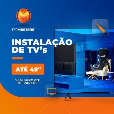 """Instalação de TV até 49"""" sem suporte de parede"""