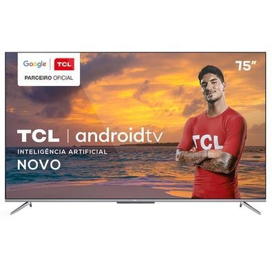 "Smart TV TCL 75"" P715 LED 4K UHD, WiFi, Bluetooth, 3x HDMI, 2x USB, HDR, Android TV, Google Assistant e Borda Ultrafina - 75P715"