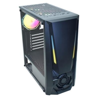 Gabinete Gamer K-MEX JAEGER I CG-01TJ, LED RGB, Lateral em Vidro Temperado, Preto - CG01TJRH001CB0X