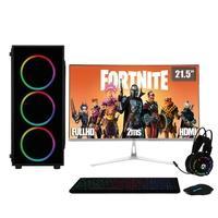 "PC Gamer Completo XP 3Green, Intel Core i7, 8Gb, HD 2Tb, Radeon RX 550 4Gb, Fonte 500W com Monitor 21.5"" Prata - Linux"