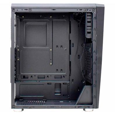 Gabinete Gamer K-Mex Hawk 4 CG35KR LED RGB, Lateral em Vidro, Preto - CG35KRRH001CB0X