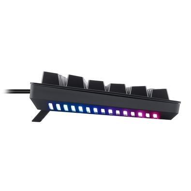 Teclado Mecânico Gamer T-Dagger Bermuda, LED Branco com Underglow Rainbow, Switch Blue, ABNT2, Preto - T-TGK312-BL (PT-WHITE)