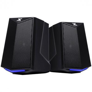 Caixa de Som Gamer Vinik 2.0 Crusade, LED Azul, 6W, 100Hz-20KHz, 5V, Preto - CXGCR6W