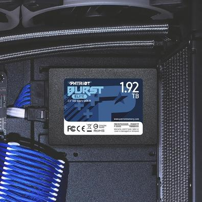 SSD Patriot Burst Elite 1.92TB, 2.5´, SATA III, Leitura: 450MB/s e Gravação: 320MB/s - PBE192TS25SSDR