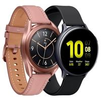 Smartwatch Samsung Galaxy Watch 3, Mystic Bronze + Smartwatch Samsung Galaxy Watch Active 2, Preto