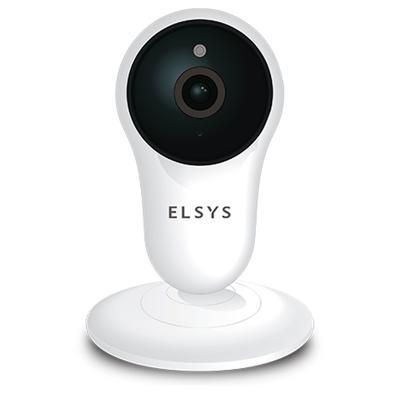 Câmera de Segurança Elsys Wi-Fi, Micro SD de Até 128GB, HD, Visão Noturna 10M, Branco/Preto - 998901365320