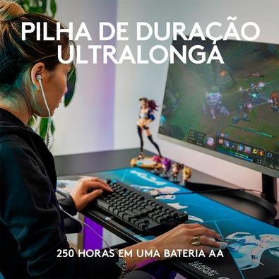 Mouse Gamer Sem Fio Logitech G305 K/DA LIGHTSPEED com 12000 DPI e 6 Botões Programáveis, Edição League of Legends KDA - 910-006052