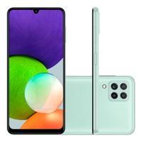 Smartphone Samsung Galaxy A22, 128GB, 4GB RAM, Octa-Core, Camêra Quadrupla + Selfie 13MP, Tela Infinita 6.4, 5000mAh, Verde - SM-A225MLGRZTO
