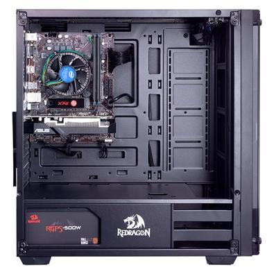 PC Gamer Redragon Berial Pro AMD Ryzen 5 2400G, RAM 16GB, SSD 256GB, GTX 1050 Ti 4GB DDR5, Windows 10 (Versão de Testes) - 40117