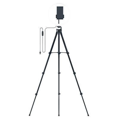 Ring Light Razer 12´, LED SMD, USB, 500 lúmens, Controle no Cabo, PC e Mobile Streaming + Tripé + Suporte Para Celular - RZ19-03660100-R3M1