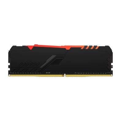 Memória Kingston Fury Beast, RGB, 8GB, 3733MHz, DDR4, CL19, Preto - KF437C19BBA/8